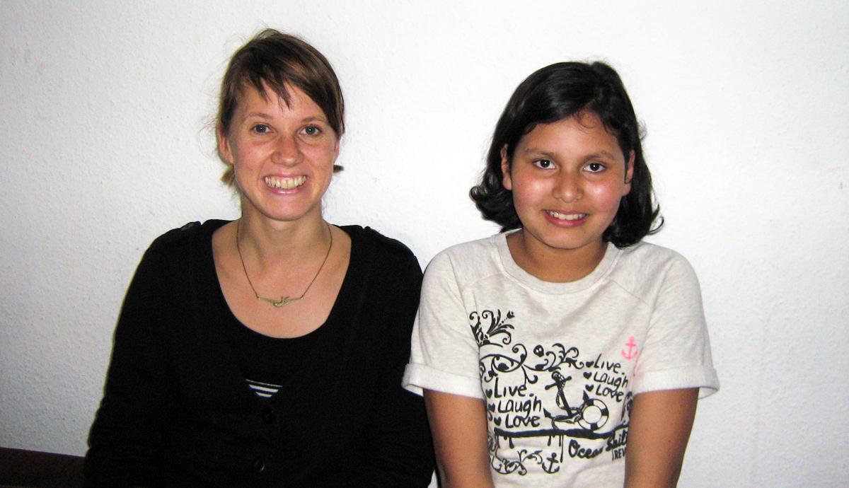 Shamsun und ihre Patin Janina