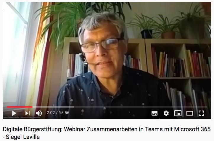 Jean-Philippe Laville im Webinar zur Digitalen Teamarbeit